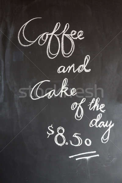 Coffee and cake sign in cafe Stock photo © backyardproductions