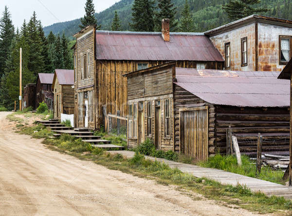 Main street in Ghost Town of St Elmo Stock photo © backyardproductions