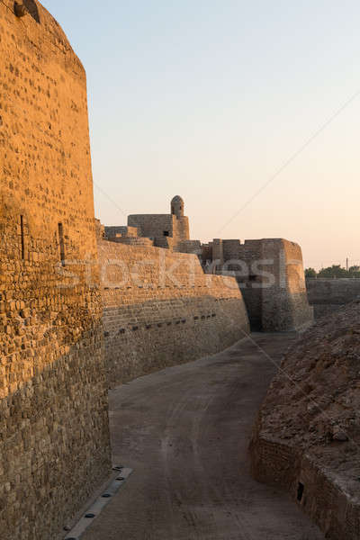 Old Bahrain Fort at Seef in late afternoon Stock photo © backyardproductions