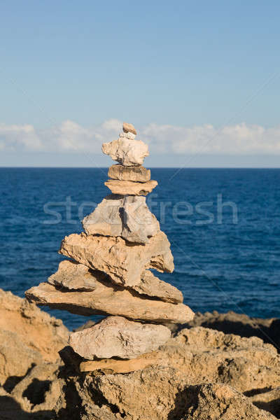 Stack of rocks on coast of Kauai Stock photo © backyardproductions