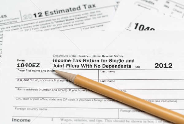 USA tax form 1040ez for year 2012 Stock photo © backyardproductions