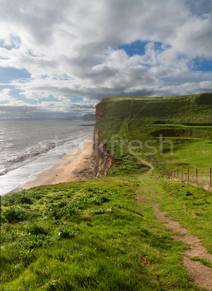 Path on cliffs at West Bay Dorset in UK Stock photo © backyardproductions
