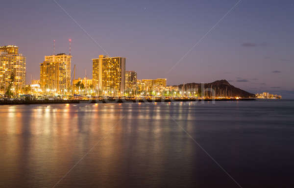 Panorama of Waikiki Honolulu Hawaii Stock photo © backyardproductions