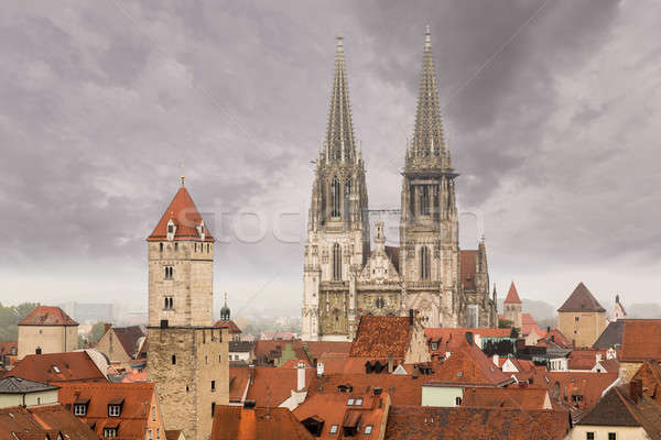 Regensburg medieval town Germany Stock photo © backyardproductions