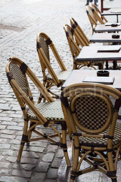 üres kávézó Brüsszel tér csetepaté étterem Stock fotó © backyardproductions