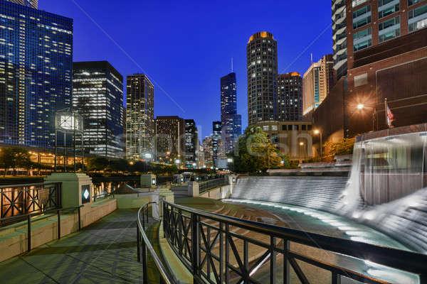 Riverwalk and Centennial Fountain Stock photo © backyardproductions