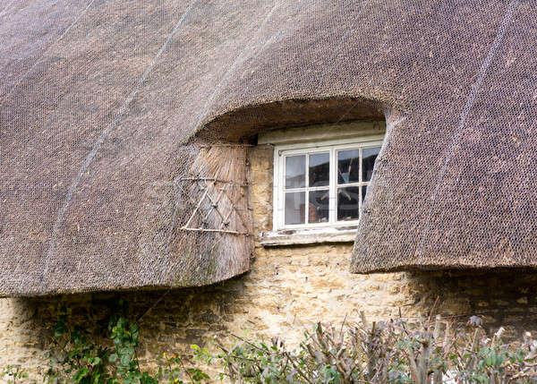 Pequeno janela telhado branco pintado Foto stock © backyardproductions