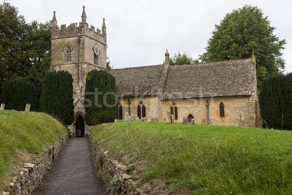 Old Church in Cotswold district of England Stock photo © backyardproductions