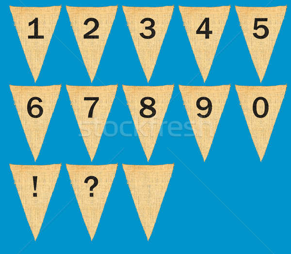 Individual cloth pennants or flags with numbers Stock photo © backyardproductions