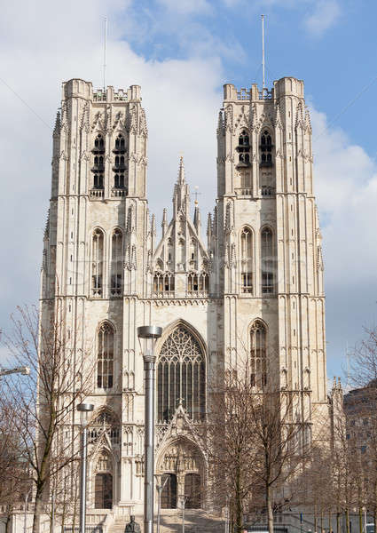 Cathedral of St Michael in Brussels Stock photo © backyardproductions