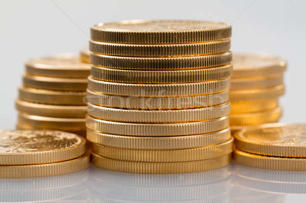 Collectie een gouden munten goud adelaar gouden Stockfoto © backyardproductions