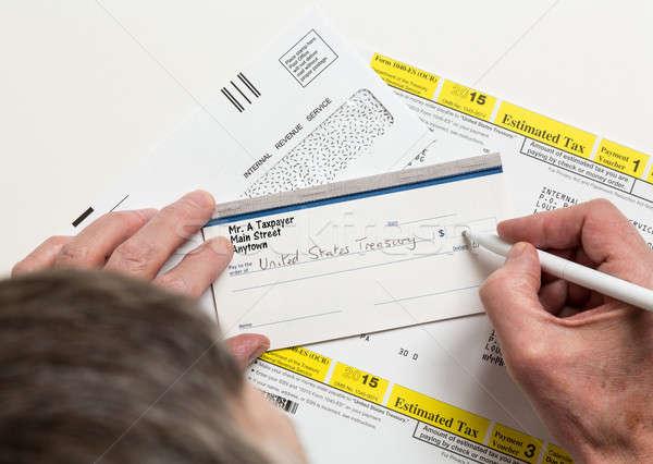 US IRS Tax form 1040-ES Stock photo © backyardproductions