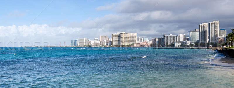 Panorama of sea front at Waikiki Stock photo © backyardproductions