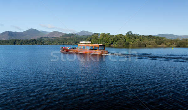 Boats on Derwent Water in Lake District Stock photo © backyardproductions