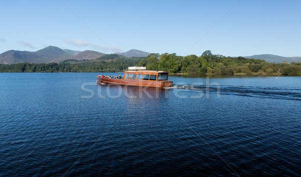 Hajók víz Lake District perem angol kora reggel Stock fotó © backyardproductions