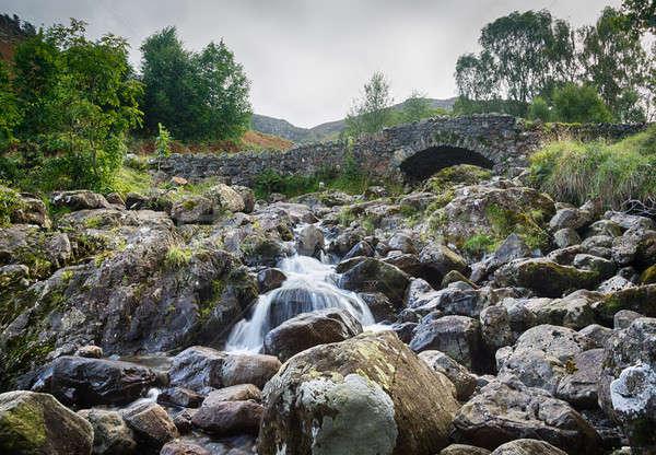 Ponte piccolo stream lake district tradizionale pietra Foto d'archivio © backyardproductions