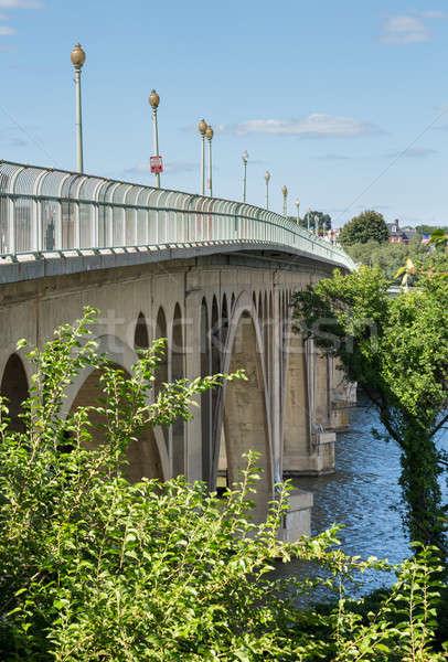 Side view of Key bridge going to Georgetown Stock photo © backyardproductions