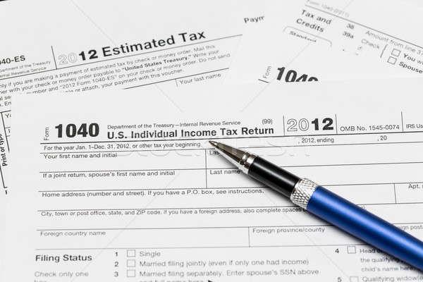 米国 税 フォーム 1040 年 2012 ストックフォト © backyardproductions