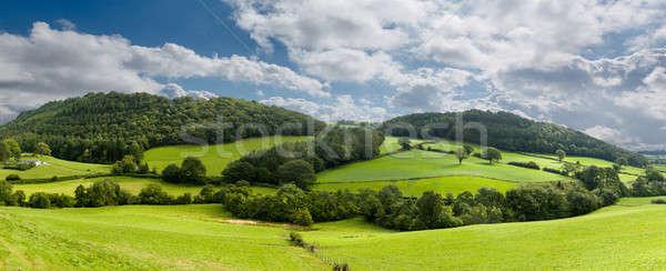 Panorama norte gales verde campo Foto stock © backyardproductions