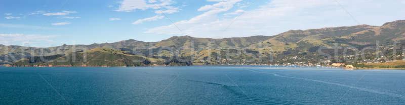 Coastline at Akaroa in New Zealand Stock photo © backyardproductions