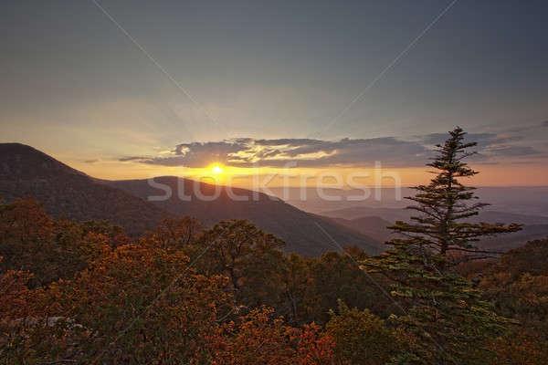 Sunset on Skyline Drive Stock photo © backyardproductions