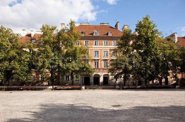 町 広場 ワルシャワ 新しい ポーランド 市 ストックフォト © backyardproductions