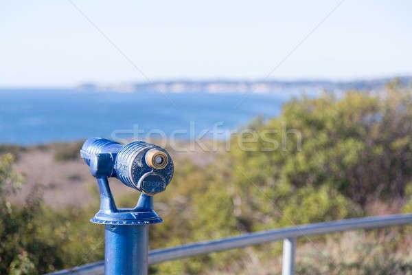Blauw telescoop kust geschilderd Californië hemel Stockfoto © backyardproductions