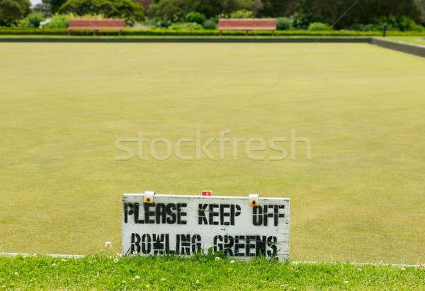 Bowling zöld kormány park fű észak Stock fotó © backyardproductions