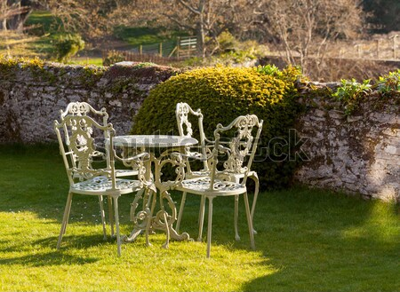 Cast iron table and chairs Stock photo © backyardproductions