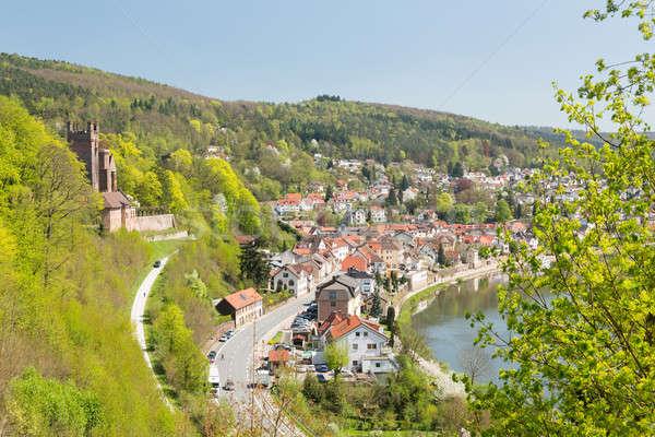 Mittelburg castle above Neckarsteinach Stock photo © backyardproductions