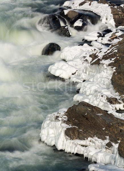 Nagyszerű kívül Washington DC folyó tél jég Stock fotó © backyardproductions