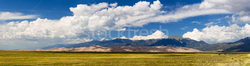 Panorama of Great Sand Dunes NP  Stock photo © backyardproductions