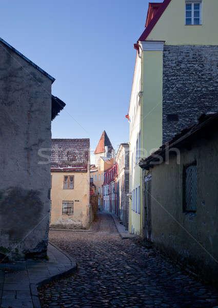 Vecchio case Tallinn hdr show Foto d'archivio © backyardproductions