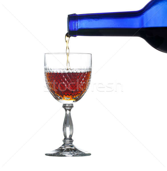 Sherry or port being poured into glass Stock photo © backyardproductions
