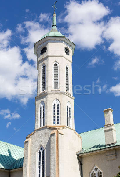 Gerichtsgebäude Turm Dach Virginia Himmel Stock foto © backyardproductions