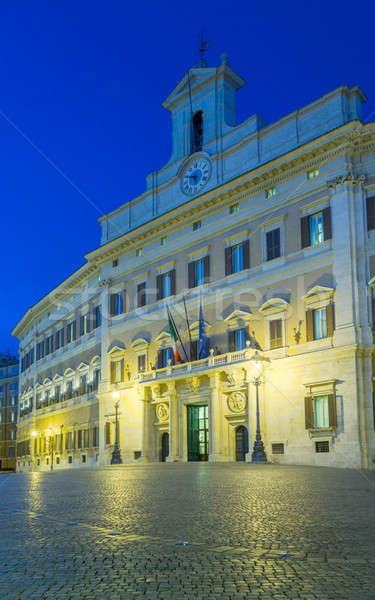 Palazzo Montecitorio Chamber of Deputies Stock photo © backyardproductions
