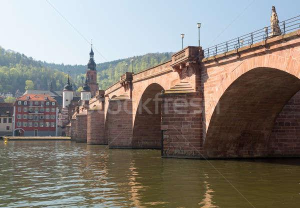 Oude brug stad Duitsland middeleeuwse leidend Stockfoto © backyardproductions