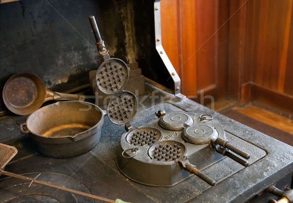 Antique Waffle maker Stock photo © backyardproductions