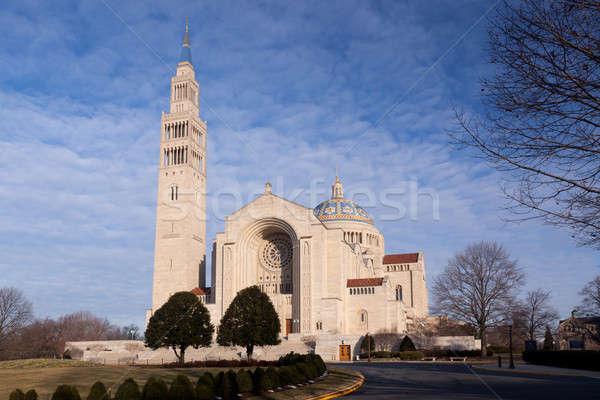 Basílica santuário Washington DC inverno dia edifício Foto stock © backyardproductions