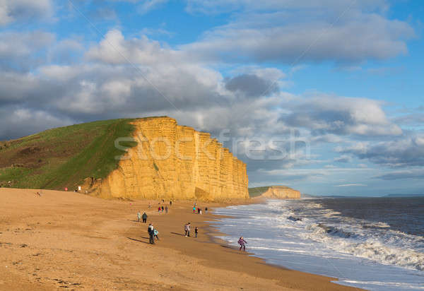 Beach and cliffs at West Bay Dorset in UK Stock photo © backyardproductions