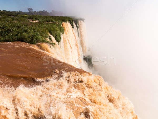 Waterval overstroming gezwollen rivier leidend beroemd Stockfoto © backyardproductions