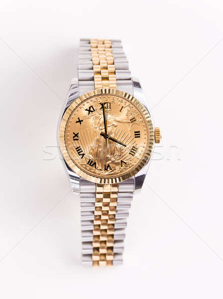 Gold and stainless steel mans watch Stock photo © backyardproductions
