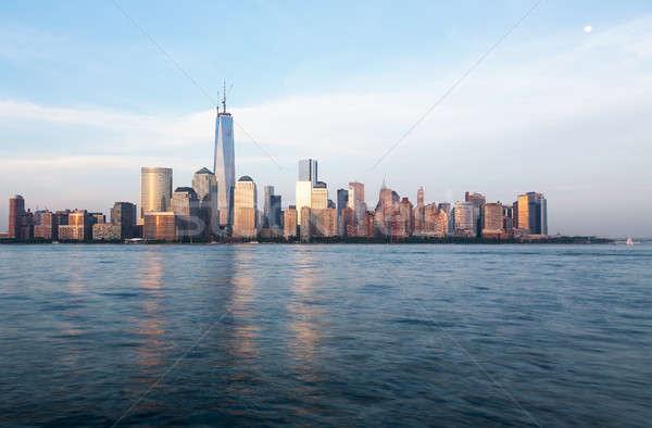 Horizonte bajar Manhattan anochecer Nueva York intercambio Foto stock © backyardproductions