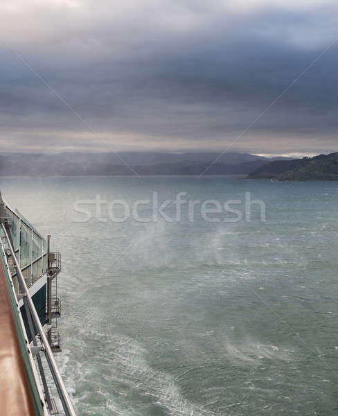 Wind whips up spray off ocean Wellington Harbor Stock photo © backyardproductions