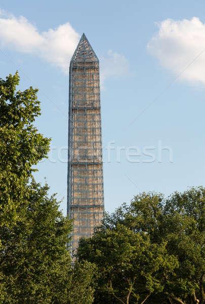 Washington-emlékmű állványzat láb magas 500 javítás Stock fotó © backyardproductions