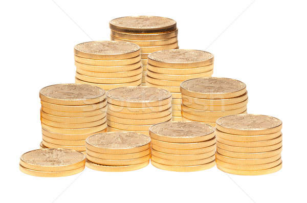Stack of golden eagle coins Stock photo © backyardproductions