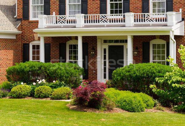 Entrance to large single family home Stock photo © backyardproductions