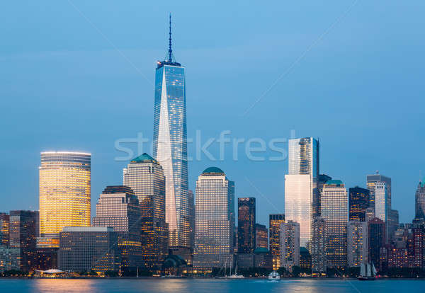 Horizonte bajar Manhattan noche Nueva York intercambio Foto stock © backyardproductions
