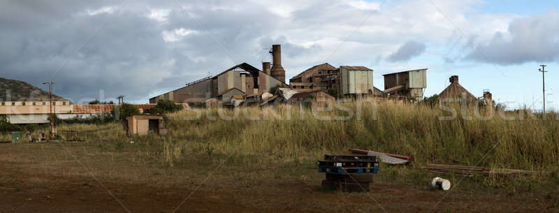 заброшенный сахар мельница панорамный мнение старые Сток-фото © backyardproductions