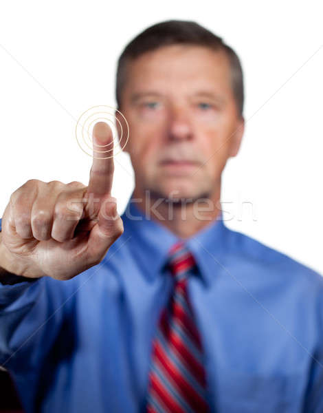 Male executive touches sensor Stock photo © backyardproductions